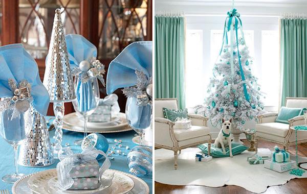 decoracao arvore de natal azul:NatalAzul