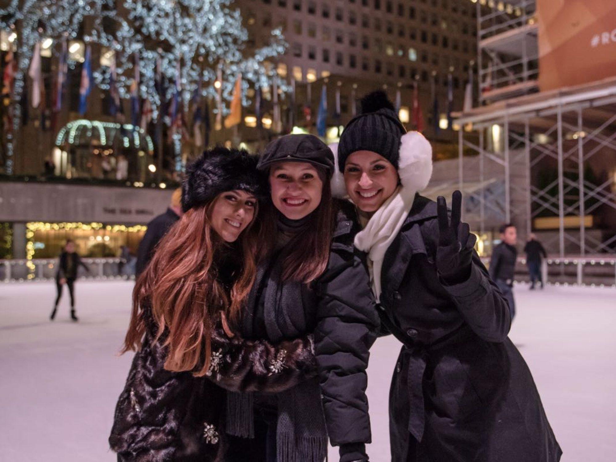 Patinação no gelo em New York!